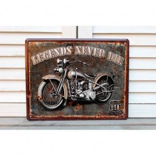 Nostalgie Blechschild Motorrad