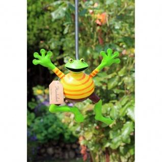 Gartenfigur Frosch hüpfend 1St sort.