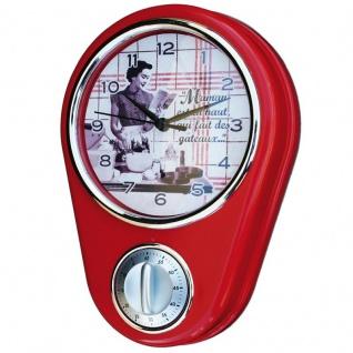Küchenuhr Kurzzeitmesser Retro rot
