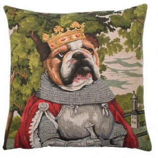 Gobelin Kissen Bulldogge Arthur