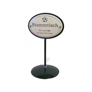 Emaille Tischständer Stammtisch Fußball