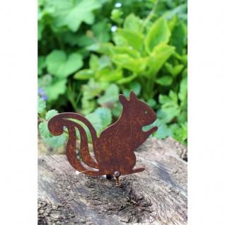 Gartenfigur Eichhörnchen Rost