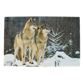 Fußmatte Winter Wölfe