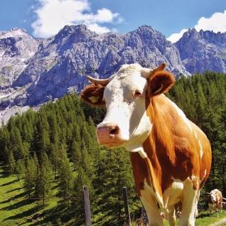 20 Servietten Alpen Kuh