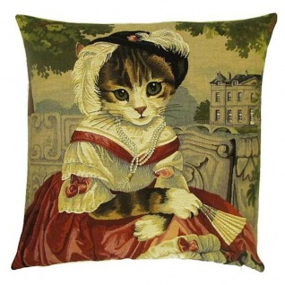 Gobelin Kissen Katze Lady Chatterley