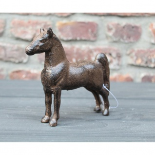 Pferd Dekofigur Gusseisen