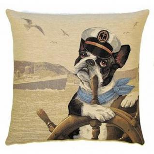 Gobelin Kissen Boston Terrier Ahoi