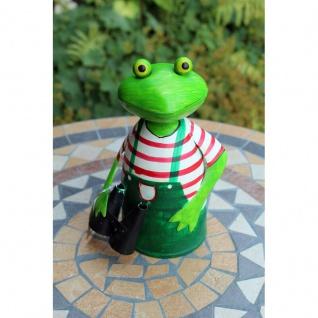 Zaunhocker Frosch Gärtner mit Fernglas
