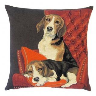 Gobelin Kissen Sofa Beagle