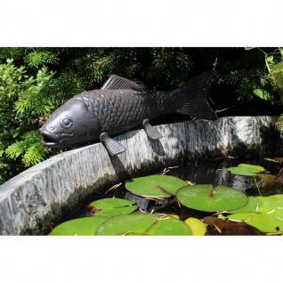 Gartenfigur Fisch Gusseisen groß