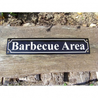 Emaille Schild Barbecue Area
