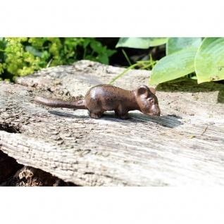 Gartenfigur Maus seitlich schauend