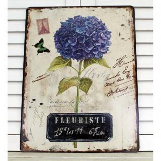Nostalgie Blechschild Hortensie