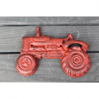 Wandflaschenöffner Traktor rot