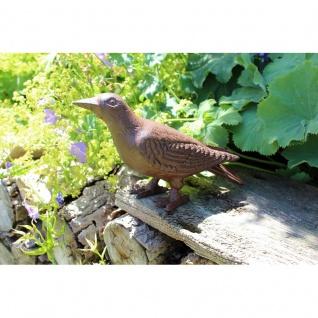 Gartenfigur Vogel Rabe
