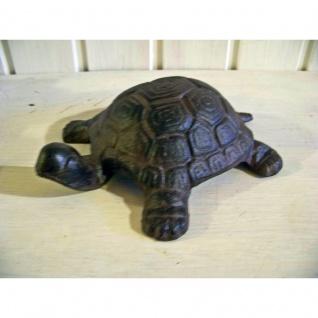 Schildkröte Gusseisen Gartenfigur