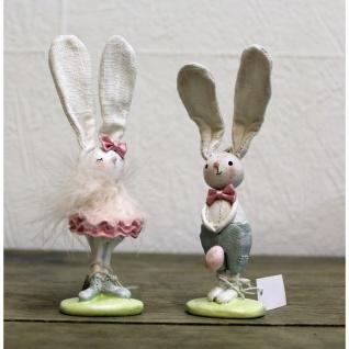 Osterhasen Paar Pastell