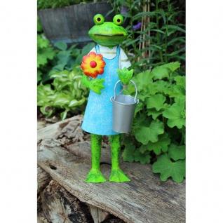 Frosch Gärtnerin mit Blume