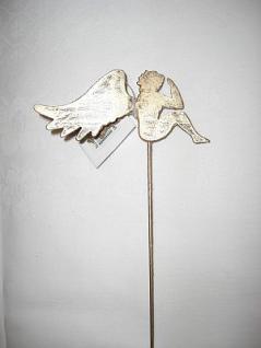 Engel auf Stab gold-antik 34 cm