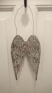 Shabby, Landhaus Metall Engelsflügel zum Hängen 22 cm