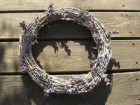 Lavendel-Rebenkranz 26 cm natur