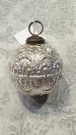 Deko Kugel aus Glas, Weihnachtsbaumkugel silber/antik 7cm