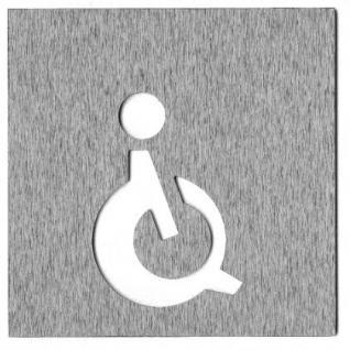 Piktogramm WC Edelstahl 12 x 12 - Vorschau 4