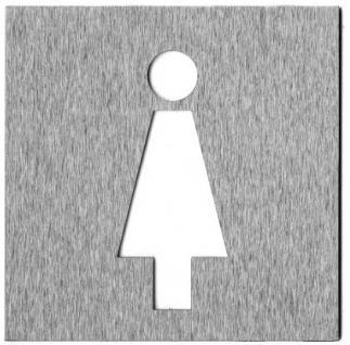 Piktogramm WC Edelstahl 12 x 12 - Vorschau 2
