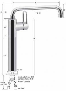 armaturen-HAI master Hebelmischer-Einloch-Säulenbatterie 3/4'', schweres Modell