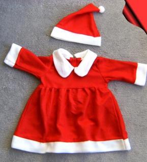Weihnachtskostüm, Weihnachtskleid u. Mütze 2tlg. Baby Mädchen