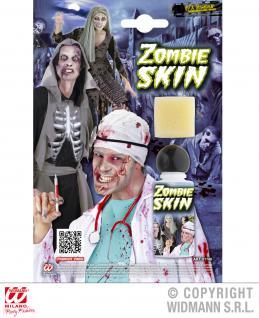 Schminke Zombie Haut Flasche mit Schwamm HALLOWEEN