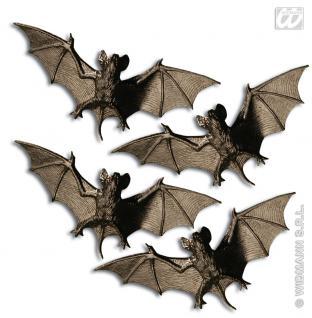 Fledermaus Fledermäuse schwarz Deko 4 Stück, 11cm, 8248