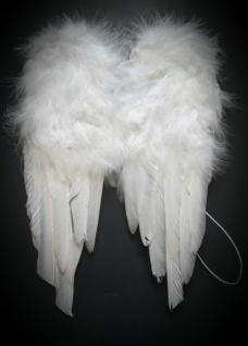 Engel Flügel, Federn weiss, Kinder Erwachsene 30x45 cm, Weihnachten Karneval