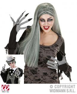 Zombie, Vampir, Dracula Handschuhe grau Halloween 9423