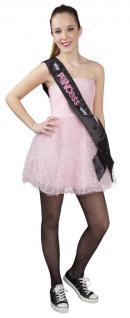 Prinzess Schärpe, schwarz rosa Junggesellinenabschied