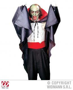 Vampir, Dracula Umhang, Cape, roter Kragen, Halloween