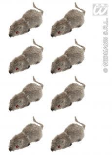 8 kleine Mäuse Maus grau 5 cm Deko Halloween Tischdeko