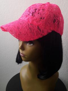NEON pink Base Cap Kappe Mütze Damen und größere Kinder aus Spitze
