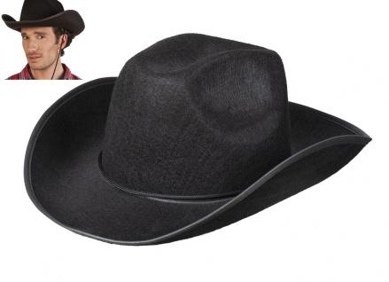 Cowboy Rodeo Hut schwarz mit Kordel Herren Karneval Mottoparty