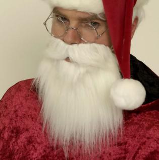 Vollbart weiss Weihnachtsmann Nikolaus Seemann Bart Kostüm Karneval Fasching
