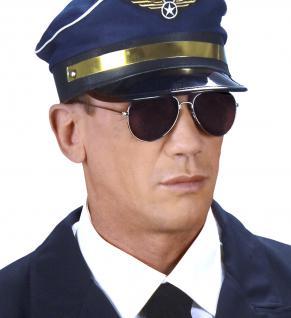 Piloten Gangster Polizei Brille unisex, getönte Gläser, silber Rahmen - Vorschau 2