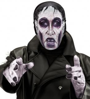 Monster Grusel Maske, Stoff Maske hauchdünn, Gesichtsmaske Halloween - Vorschau 1