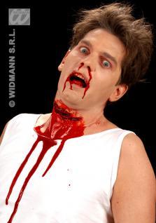 Effekte: aufgeschnittener Hals, Blut Schnittwunde Theater, Horror 4174