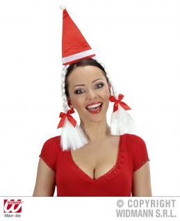 Weihnachts Minihütchen Mütze Hut Zöpfe Haarreif Damen Weihnachten
