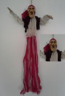 Deko, Totenkopf Pirat Figur Geisterpirat, 50 cm Horror Halloween 518
