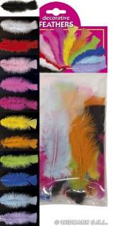 2 x 50 echte Federn, Deko, Bastelfedern, Indianer Karneval --ORANGE