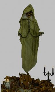 Deko Figur grüner Tod, Skelett, Geist Hängend 153 cm Halloween