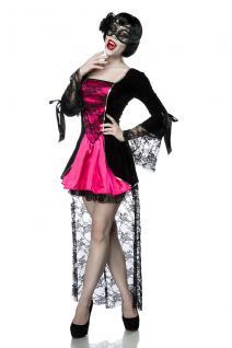Gothic Vampire Kostüm Komplettset Kleid Maske Damen