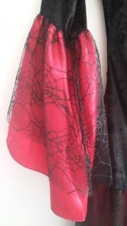 2 tlg Vampir Hexen Spinnen Gothic rot schwarz Kostüm mit Halsband 48-50 - Vorschau 3