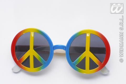 Hippie Brille, 70er, Peace Love Sonnenbrille Mottoparty Damen Herren